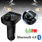 Car Dual USB Charger Bluetooth Handsfree FM Transmitter MP3 For iphone x Samsung