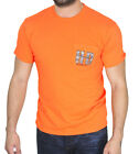 Harley-Davidson Mens Eat Rubber H-D Pocket Orange Short Sleeve T-Shirt $9.99 USD on eBay