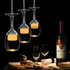 Wine Glass Chandeliers Hanging 3D LED Ceiling Light Pendant Lamp Shade Fixture