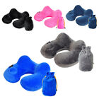 Inflatable Neck Soft U Shape Travel Pillow Cushion for Car Airplane Office image
