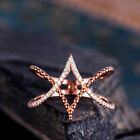 Infinity Women Ring White Sapphire Rose Gold Filled Wedding Ring Size 6-10