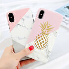 Slim Pattern Hard Case Cover For iPhone X 5 8 Plus Samsung Galaxy S7 S8 S9 Plus