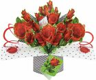 Love on Your Birthday Card POP UP 3D Wife Husband Girlfriend Boyfriend Red Roses