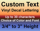 Custom Vinyl Decals Text Letters Numbers Personalized Sticke