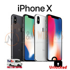 Apple iPhone X 64GB 256GB (A1901, Factory Unlocked) Silver Space Gray