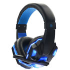 Gaming Headset Earphones Cool Glowing Headphone Stereo with Microphone for Gamer