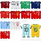 Baby Boy Girl World Cup 2018 Football Soccer Jersey Jumpsuit Outfit Cloth Romper