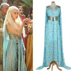 Mother of Dragons Game of Thrones Daenerys Targaryen Costume Long Dress Skyblue