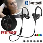 Bluetooth Wireless Headphones Sporting Running Earphones Water-Resistant New