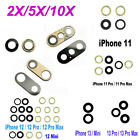iPhone12 11 Pro XS MAX XR X 8 7 PLUS Camera Glass Lens Replacement Lot+ Tape USA