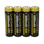 Lot Garberiel 6000mAh 18650 Battery 3.7V Li-Ion Rechargeable Batteries for Torch