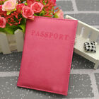Travel Solid Leather Passport Holder ID Card Organizer Case Cover Protector PU
