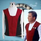 Star Trek Kirk Ribbed Shirt and Red Black Vest Set Cosplay Costume Halloween on eBay