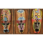 African Style Mask Wall Art Hanging Mask With Rope for Home Restaurant Decor
