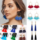 Women Ladies Bohemian Earrings Jewelry Long Tassel Fringe Boho Dangle Jewelry