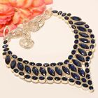 "Madgascar Blue Sapphire 925 Sterling Silver Necklace 17.99""(5562)ON"