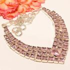 "Madgascar Rose Quartz 925 Sterling Silver Necklace 17.99""(5595)ON"