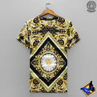 NEW 2018 VERSACE round neck short sleeve tuhao gold T-shirt