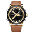 NAVIFORCE New Arrival Men Watches Waterproof Leather Sport Watch Multi Function