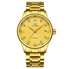 Mens Tevise Mechanical Stainless Steel Link Band Automatic Analog Crystal Watch