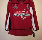 NWT Alex Ovechkin 8 Washington Capitals Stanley Cup Hockey Jersey Men Red