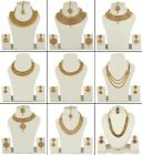 Set Indian Necklace Jewelry Bollywood Gold Plated Earring Bridal Fashion Jewelry