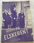 Was wird hier gespielt? Theo Lingen Fita Benkhoff Vtg 1940 Danish Movie Program