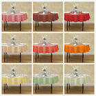 70 in. Round Polyester Tablecloth 33 Colors! for Wedding Event  Banquet Party