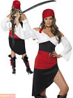 Ladies Sassy Pirate Wench Costume Adults Buccaneer Fancy Dress Womens Outfit