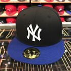 New Era New York Yankees Fitted Hat Cap Black/Royal/White