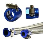 "Fuel Oil Water Line Hose End Finishers Clip Clamp Blue 10mm 3/8"" or 16mm 5/8"" OD"