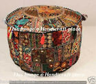 """Patchwork Bohemian Cotton Urban Otoman Footstools 18"""" Large Indian Pouffe Cover"""