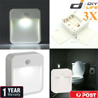 3xMotion Sensor PIR Light Cordless Battery Powered LED Night Light Closet Stair