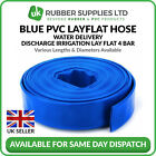 Blue PVC Layflat Hose Water Delivery Discharge Pipe Pump Irrigation NEXT DAY