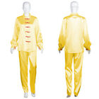 Gold Women Chinese Traditional Kung Fu Satin Uniform Cosplay Costume Top HC-1018