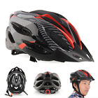 Cycling Bicycle Adult Mens Bike Helmet Red carbon color With Visor MountainU5