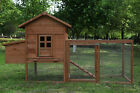 80'' Wooden Chicken Coop Poultry Enclosure Nest box Hutch Cage Rabbit Shelter