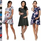 Happy Mama. Women's Maternity Breastfeeding Nursing Summer Swing Dress. 084p