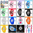 Children Kids LED Digital Alarm Date Waterproof Wristwatch Unisex Quartz Watches