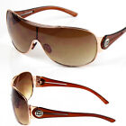 DG Eyewear Mens Designer Shield Wrap Sunglasses Fashion Shades Large Oversized