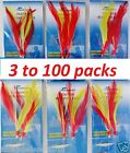 3 100 packs size 3 0 rock cod rigs red yellow feather rockfish baits 2 Rigs pack