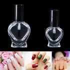 5/10ml Empty Heart Nail Polish Clear Glass Bottle Storage Container with Cap PT