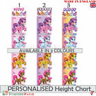 PERSONALISED Childrens Height Chart Wall Sticker Kids Girls Unicorn  Decal Pink