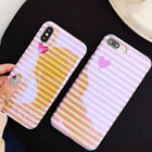 Striped love soft shell phone case For iphone 6 6 plus 7 7 plus X