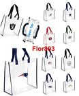 NFL Team Clear Reusable Plastic Tote Bag 2019 Stadium Aproved $9.99 USD on eBay