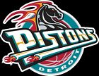 Detroit Pistons Throwback Horse logo Vinyl Decal / Sticker 5 Sizes!!