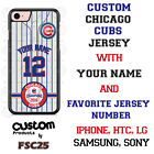 Chicago Cubs Blue Stripe Baseball Jersey Phone Case Personalized for iPhone etc.
