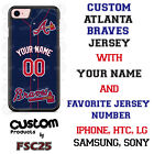 Atlanta Braves Blue Baseball Jersey Phone Case Personalized for iPhone LG etc.