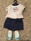 Anerican Girl Doll Demin Shorts Outfit With Sandals