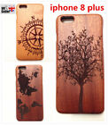 Natural handcraft Real Bamboo wooden phone cover case for iphone 8 plus !!